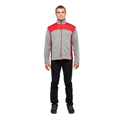 Толстовка Статус-Т мужская серый/красный размер XXL (60)