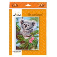 Набор для валяния картины Woolla Шерстяной креатив Добродушная коала