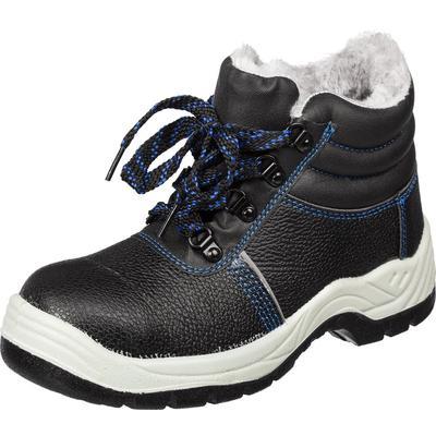 Ботинки утепленные из натуральной/искусственной кожи черные размер 47