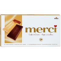 Шоколад Merci молочный кофе и сливки 100 г