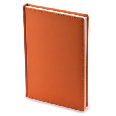 Ежедневник недатированный Альт Velvet искусственная кожа A5+ 136 листов оранжевый (146х206 мм)
