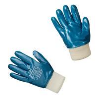 Перчатки рабочие с защитой от порезов/проколов Strongshell 28-402 хб полное нитриловое покрытие (размер 10, XL)