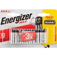 Батарейки Energizer Max мизинчиковые AAA LR03 (10 штук в упаковке)