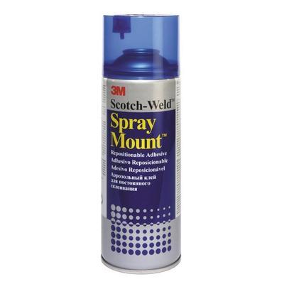 Клей спрей 3M Spray Mount для фото и плакатов медленной фиксации 400 мл