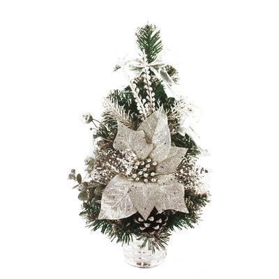 Елка новогодняя Веселый хоровод настольная 40 см c декором