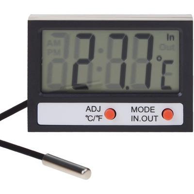 Термометр электронный комнатно-уличный с часами REXANT 70-0505