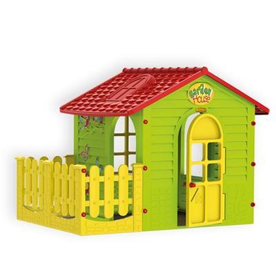 Игровой домик с забором 165x120x120.5 см