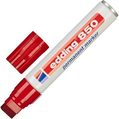 Маркер перманентный Edding 850 красный (толщина линии 5-15 мм)  клиновидный наконечник