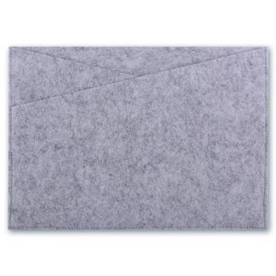 Папка-конверт на кнопке Escalada A4+ серая 500 мкм 44636