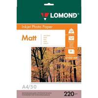 Фотобумага для цветной струйной печати Lomond двусторонняя (матовая, А4, 220 г/кв.м, 50 листов, артикул производителя 0102144)