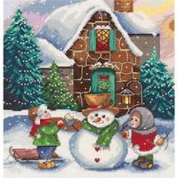 Набор для вышивания Panna панно Зима во дворе 19x20см