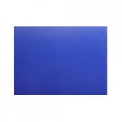 Доска разделочная 400х300х12 синяя полипропилен кт 227