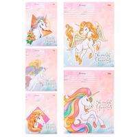 Тетрадь школьная Проф-пресс Магические единороги-2 А5 12 листов в косую линейку (обложка в ассортименте)