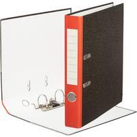 Папка-регистратор Attache Economy 50 мм мрамор черная/красный корешок