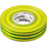 Изолента Navigator ПВХ 19 мм x 20 м желто-зеленая
