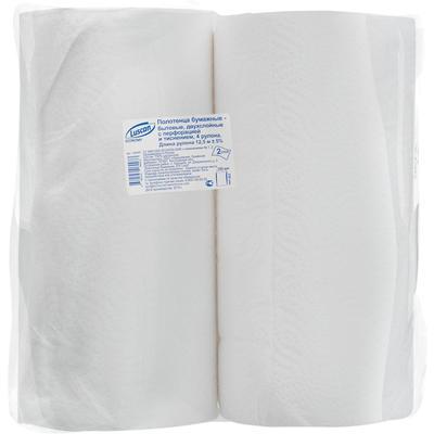 Полотенца бумажные Luscan Economy 2-слойные белые 4 рулона по 12.5  метров