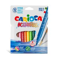 Фломастеры Carioca Acquarell 12 цветов акварельные