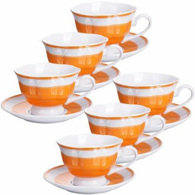 Сервиз кофейный Loraine (28600) на 6 персон фарфор (6 чашек 80 мл, 6 блюдец 10.5 см)