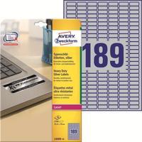 Этикетки самоклеящиеся Avery Zweckform L6008-20 25.4x10 мм серебристые (189 штук на листе A4, 20 листов в упаковке)