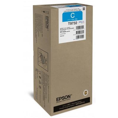 Картридж струйный Epson T9732 C13T973200 голубой оригинальный