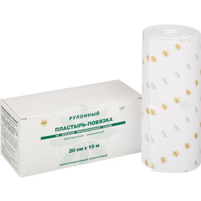 Пластырь-повязка Leiko plaster рулонный фиксирующий 20 см х 10 м