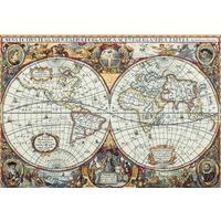 Набор для вышивания Panna панно Золотая серия Географическая карта мира 63,5x44,5см
