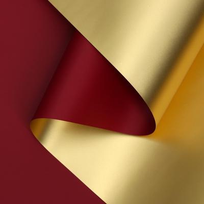 Пленка для цветов Акварель красная/золотистая 0.58х5 м