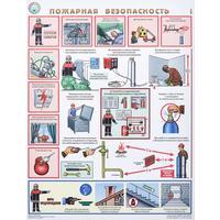 Плакат информационный пожарная безопасность, комплект из 3-х листов