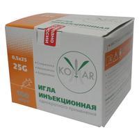 Игла инъекционная Комар 25G (0.5х25 мм, 100 штук в упаковке)