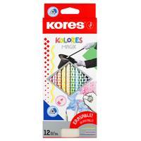 Карандаши цветные стираемые Kores Kolores MagiK Kores 12 цветов трехгранные