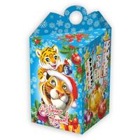Новогодний сладкий подарок Тигр с тигренком 700 г (с игрой)
