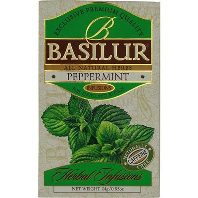 Чай подарочный Basilur Перечная мята пакетированный травяной 25 пакетиков