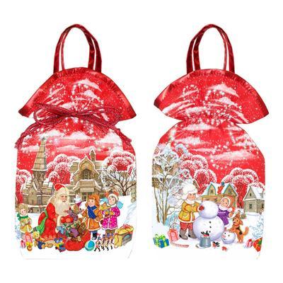 Новогодний сладкий подарок мешочек Новогодний красный 800 г (с купоном)