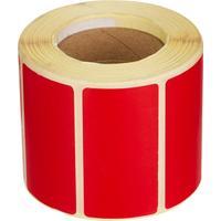 Термоэтикетки 58х30 мм Eco без печати красные (700 этикеток в рулоне)