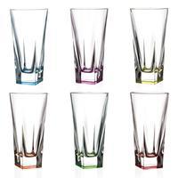 Набор бокалов для воды RCR Fusion colour 380 мл (в наборе 6 штук)