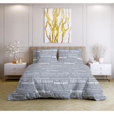 Постельное белье Ночь Нежна Письма (2-спальное, 2 наволочки 70х70 см, бязь)