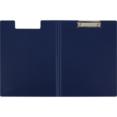 Папка-планшет с зажимом и крышкой Attache A4 пластиковая синяя