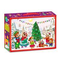 Новогодний сладкий подарок Скоро, скоро Новый год в картонной коробке 1000 г (с пазлом)