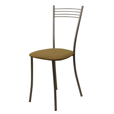 Стул для столовых Хлоя бежевый (искусственная кожа/металл)