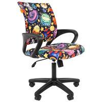Кресло детское Chairman Kids 103 НЛО (велюр/пластик черный)