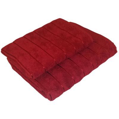 Набор полотенец махровых Прованс 50х80 см 1 штука 70х130 см 1 штука 450 г/кв.м бордовые