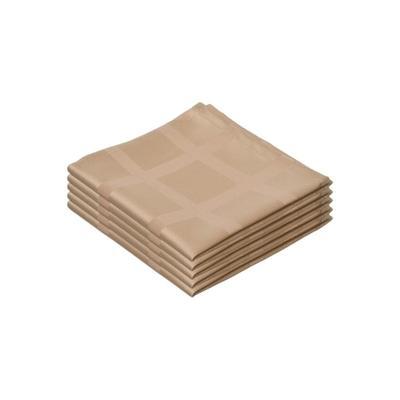 Салфетка (рис.1) 35х35 см журавинка бежевая (5 штук в упаковке)