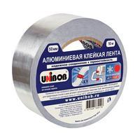 Клейкая лента алюминиевая Unibob 50 мм x 10 м 70 мкм серая