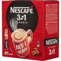 Кофе порционный растворимый Nescafe 3 в 1 классический 20 пакетиков по 14.5 г