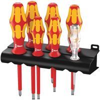 Набор отверток диэлектрических Wera Kraftform Plus 160 i/7 Rack 7 предметов (006147)