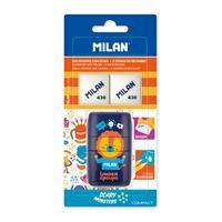 Ластик-точилка Milan Compact Underground с двумя ластиками в ассортименте