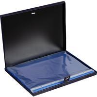 Файл-вкладыш Комус Ice А4 30 мкм прозрачный голубой гладкий 100 штук в упаковке