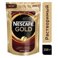 Кофе растворимый Nescafe Gold 250 г (пакет)