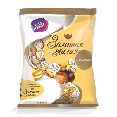 Конфеты шоколадные Конти Золотая Лилия 200 г