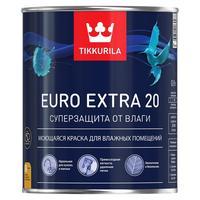 Краска моющаяся Tikkurila Euro Extra 20 A белая полуматовая 0,9 л